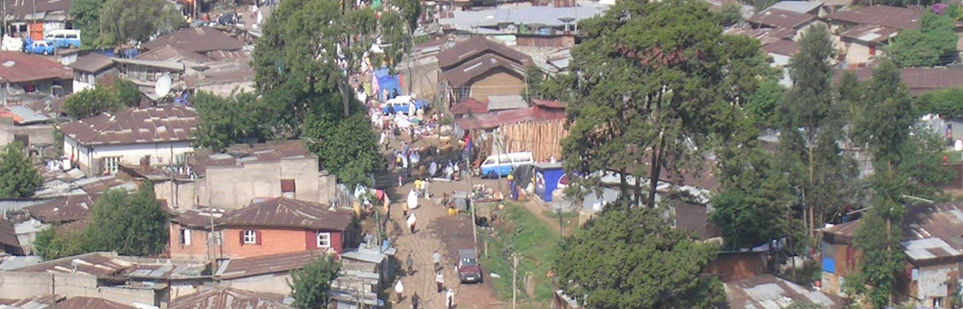 Slums in a povery stricken area