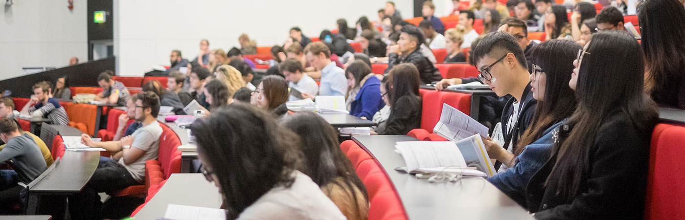 A Business Studies and Economics lecture at The University of Manchester