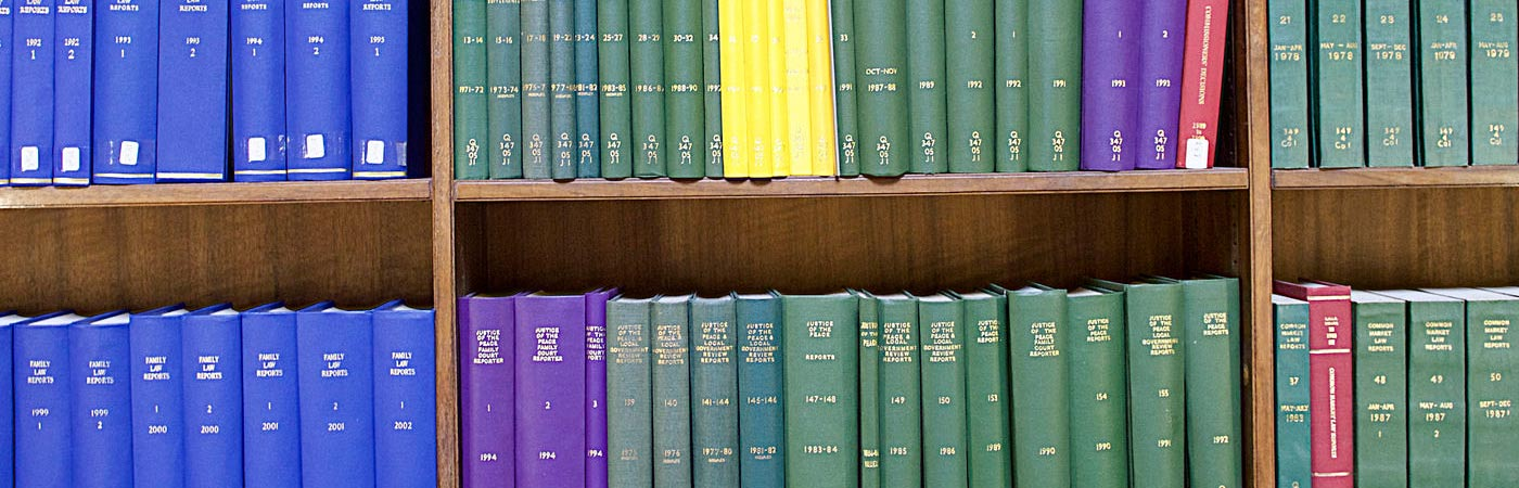 bookshelf of law journals