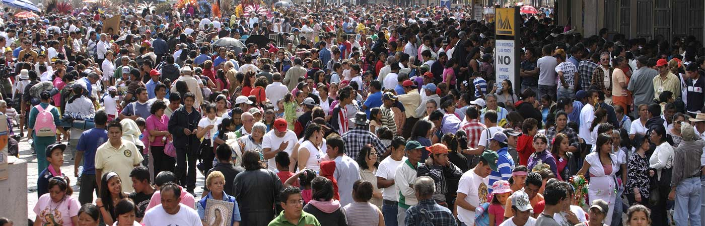 Crowd of people in Mexico