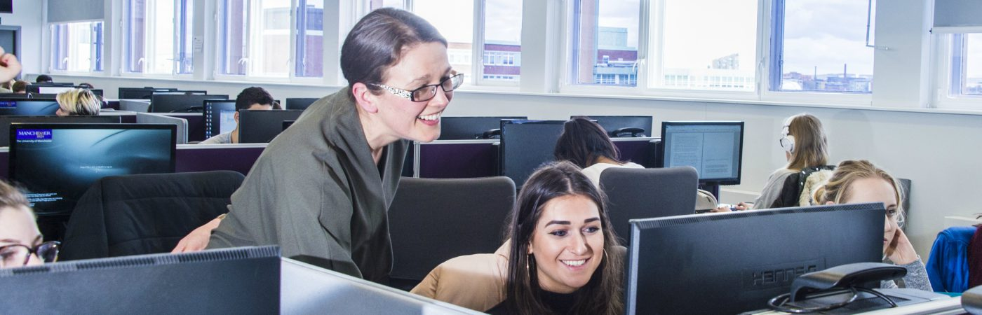 Students working at their computers