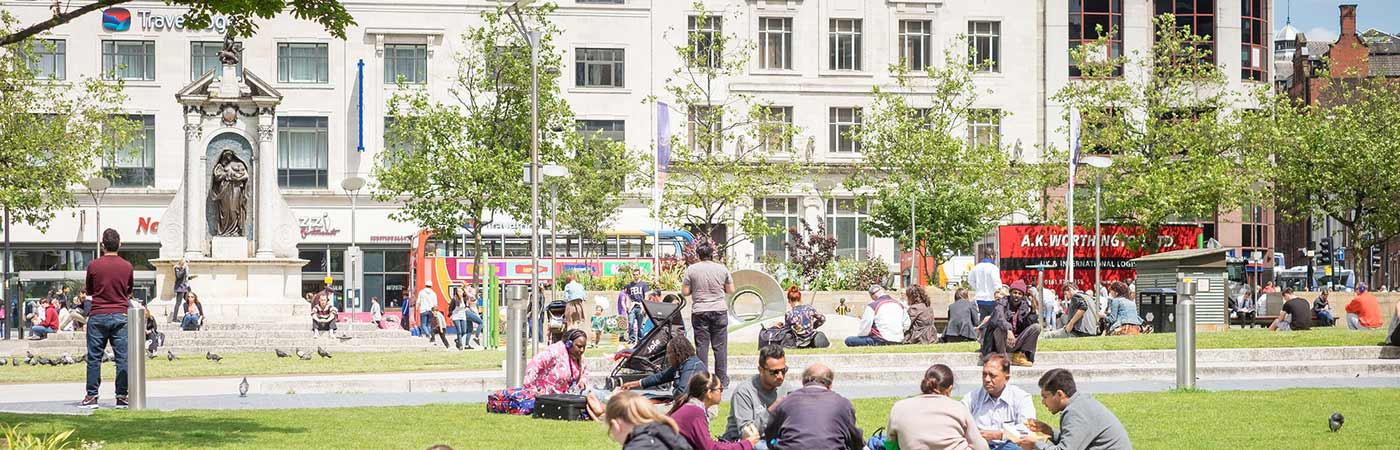 Piccadilly Gardens in Manchester's city centre