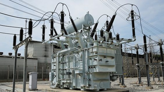 Power transformer in substation