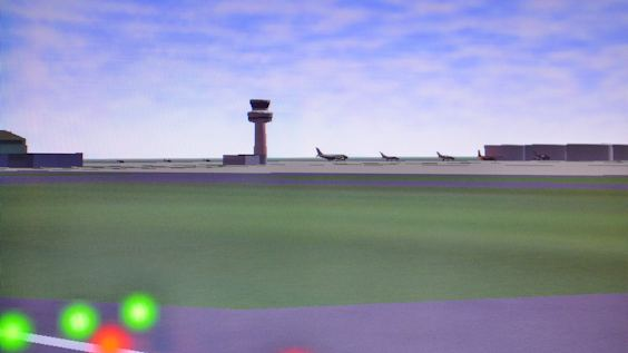 Flight simulator screen shot