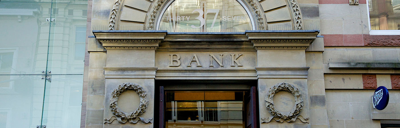 A bank, now a shop in Manchester city centre