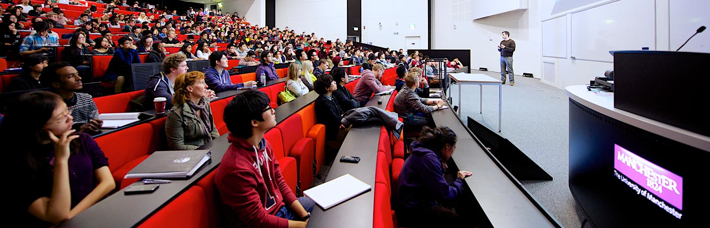 Accounting or finance lecture at The University of Manchester