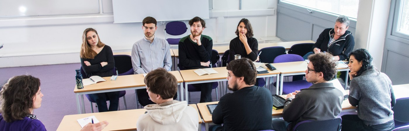 Students in discussion in class