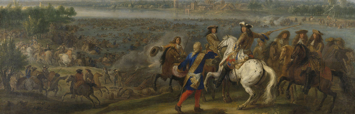 Painting of French battle