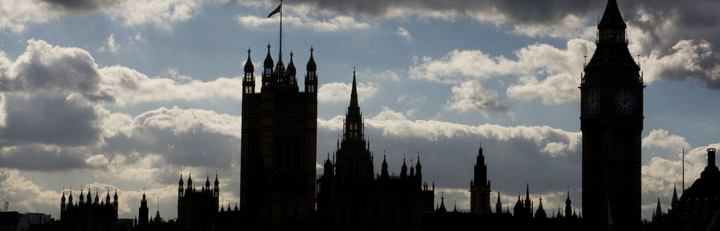 The Houses of Parliament in silhouette