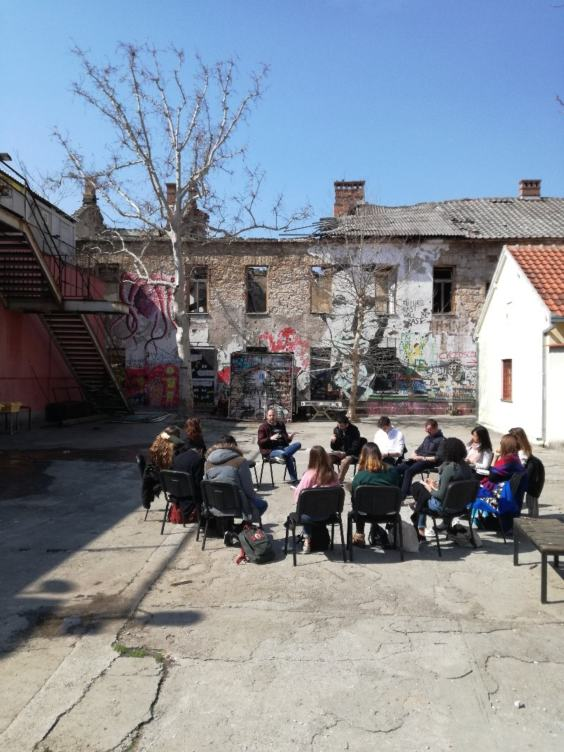 Students at the Youth Centre in Mostar