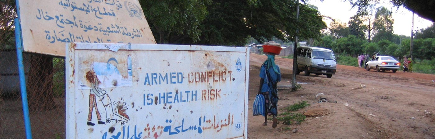 Armed conflict is health risk sign