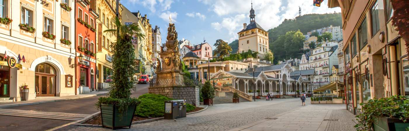 Streets in Karlovy Vary, Czech Republic