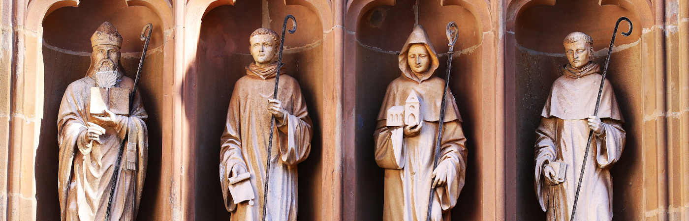 Statues at Mariawald Abbey