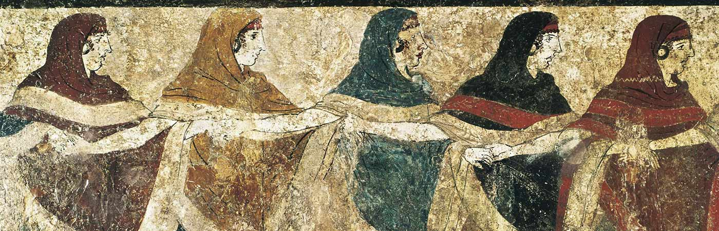 Painting of women holding hands