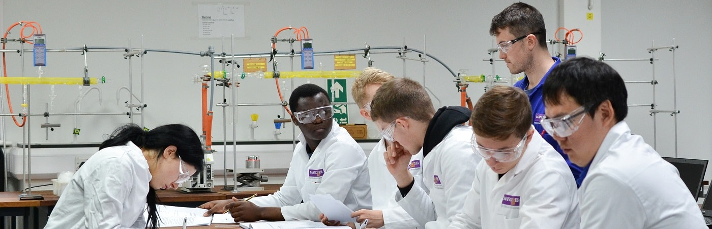 Students in a chemistry lab